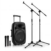 "auna Streetstar 12 Mobile PA System Microphone Set 12"" PA System 2 x Mic"
