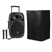 "auna Streetstar 15 Mobile PA System with Protective Cover 15""-Subwoofer Trolley BT USB"
