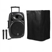 "auna Streetstar 12 Mobile PA System with Protective Cover 12""-Subwoofer Trolley BT USB"
