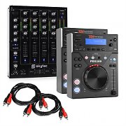 "Electronik Star DJ Set ""CD DJ Starter"" - 4 Channel Mixer 2xCD-Player 2xCinch cable"