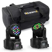 beamZ Light Effect Set With Transport Bag 2x LED-108 Moving Head & 1x Soft Case