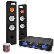 460W Home Cinema Tower Speakers 1000W 3 Band EQ Power MP3 USB Pre-Amplifier