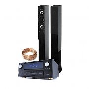 400W RMS Black Hifi Tower Speakers 5.1 Surround Sound Amplifier Package