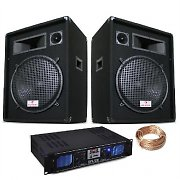 "Auna PW-1522 1600W 15"" Speakers SPL2000 MP3 Power Amplifier"