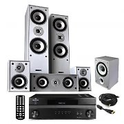 "HiFi System ""Custom HD Deluxe"" 1200W HDMI Tru-5.1 Surround Sound Silver Edition"