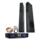 Home Hifi Stereo LED Amplifier Tower Speakers 1500W USB MP3 SD Bundle