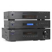 Auna Hifi Tower WLAN Internet Radio, MP3 CD player & HDMI Surround Receiver Hifi Set