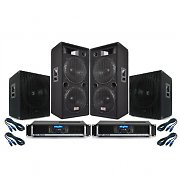 PA System 'Summer Nights II' 3500W Dual 15&quot; Inch Speakers, Bass Bins, Amplifiers DJ Disco