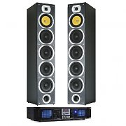 1200W Home Cinema Hifi Tower Speakers MP3 USB SD FM Amplifier Bundle
