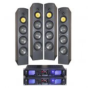 Home Cinema 2000W Tower Speakers HiFi Stereo Mp3 Amplifier Bundle