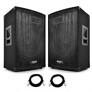"2x Active Ibiza 800W Max 15""  3 Way Bass Reflex Speakers DJ Disco PA System"