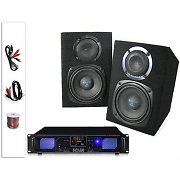 PA System 5&quot; 200W Home DJ Disco Monitor Speakers + MP3 USB SD Amplifier