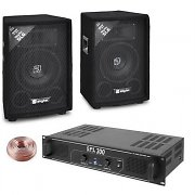 "Skytec ""Bass Warrior"" 300W DJ Amplifier PA 6"" Speaker Set"