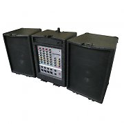 DJ 800 complete PA system mixer FX amplifier speakers 200W RMS