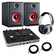 Disco Club ´Intermediate pack´ USB MIDI DJ Controller 150W Active Monitors Set