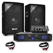 "Skytec 6"" 500W Passive Speakers, SPL500 Amplifier, DJ Equipment"