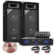 "1000W 8"" Party Speakers DJ Mixer Hifi Amplifier Home PA System"