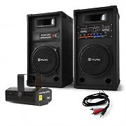 Active 8&quot;  800W PA Speakers USB SD MP3 with Disco Laser Light