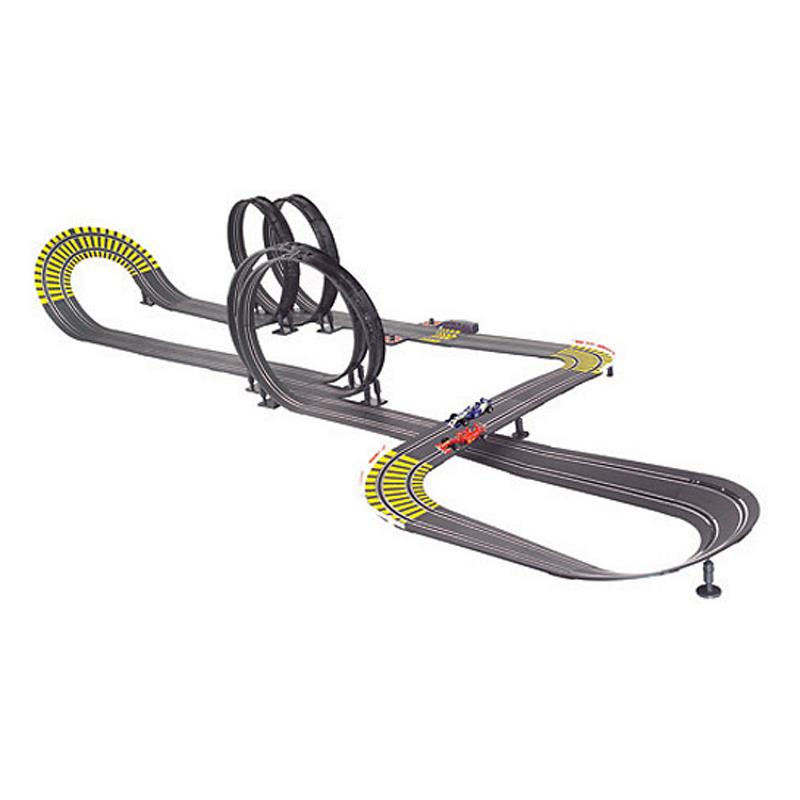 Model Race Track with Loops & 3 Racing Cars - Kids Toy Gift: Click to enlarge image!