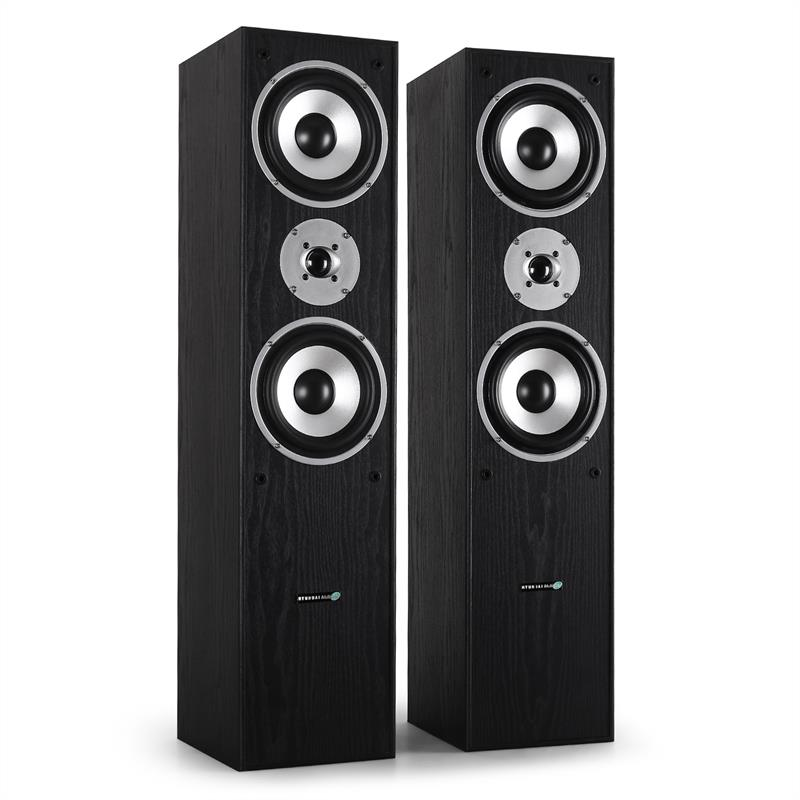 Pair Hyundai Multicav 3-way Bass Reflex Speakers 700 Watts: Click to enlarge image!
