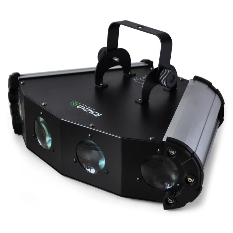 Ibiza LE-4 LED 4-Way Moonflower Light Effect 6-Channel DMX: Click to enlarge image!