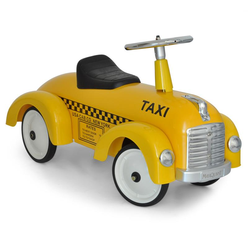 Marquant Vintage Kids Ride-On Toy Taxi Pedal Car Yellow: Click to enlarge image!