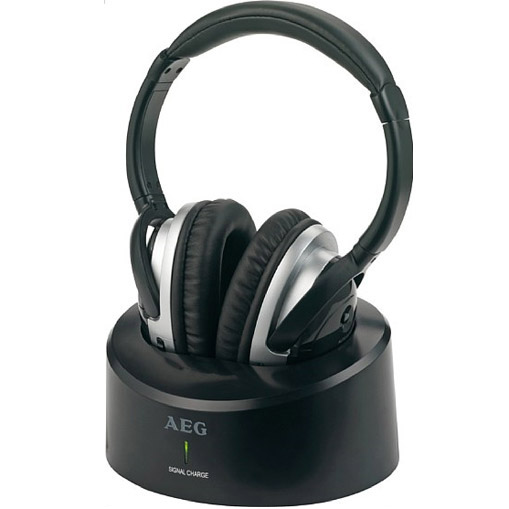 AEG KHF-4203 UHF Wireless Hifi Stereo Headphones: Click to enlarge image!