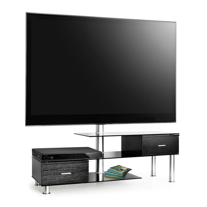 Auna TV Table + LCD TV Bracket Mount Black Glass Sideboard at the Best Price! # Glass Tv Sideboard