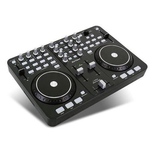 DJ-Tech iMix Laptop DJ Console w. 2 Decks USB MIDI Traktor: Click to enlarge image!
