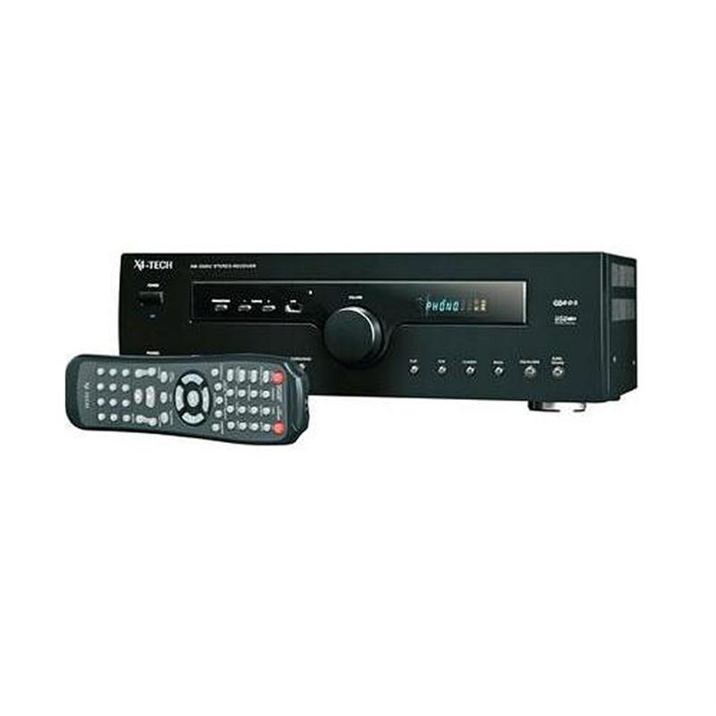 X4-Tech A-2000U HiFi Amplifier Receiver with USB RDS 500W: Click to enlarge image!