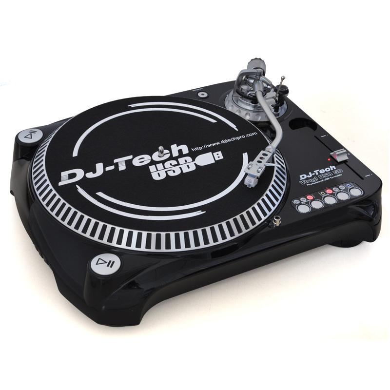 DJ-Tech USB-50 Record Player DJ Turntable MP3 USB PC Mac: Click to enlarge image!