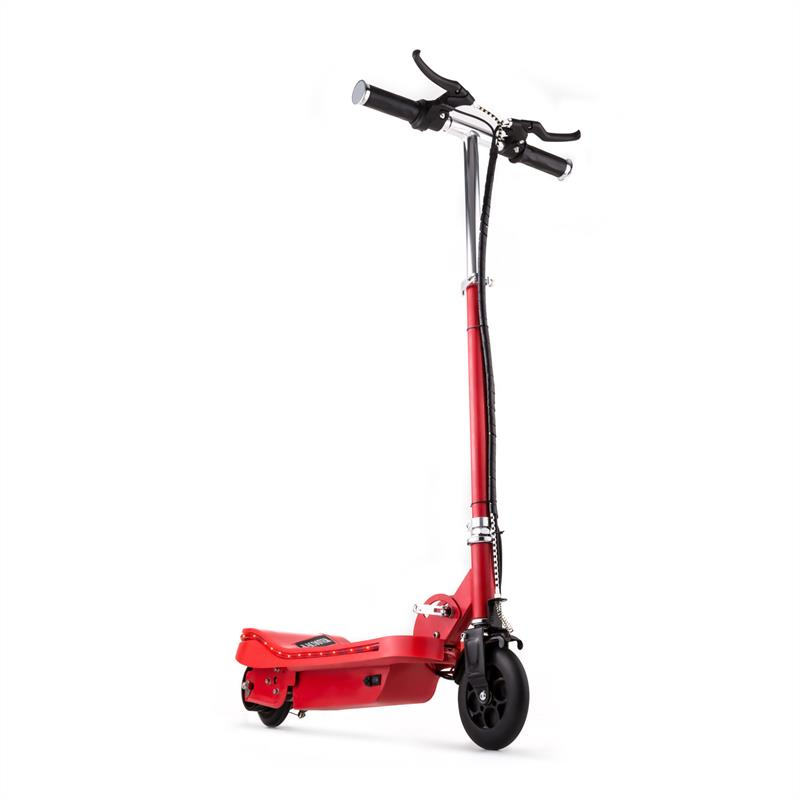Electric E-Scooter Ride-On Fun V6 120W LED 15 km/h - Red
