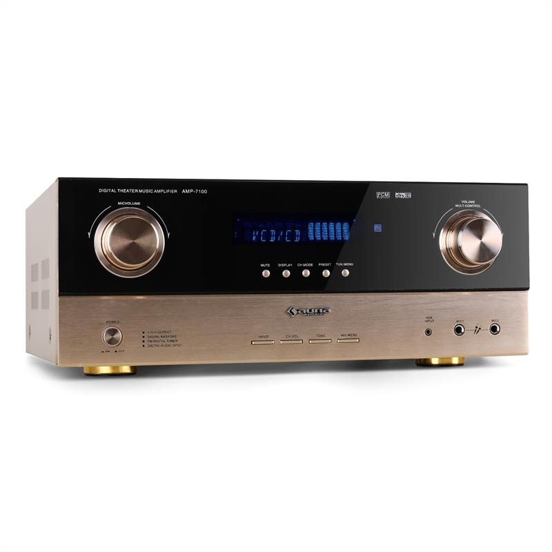 Auna AMP-7100 Home Hifi 7.1 AV Receiver 2000W Amplifier: Click to enlarge image!