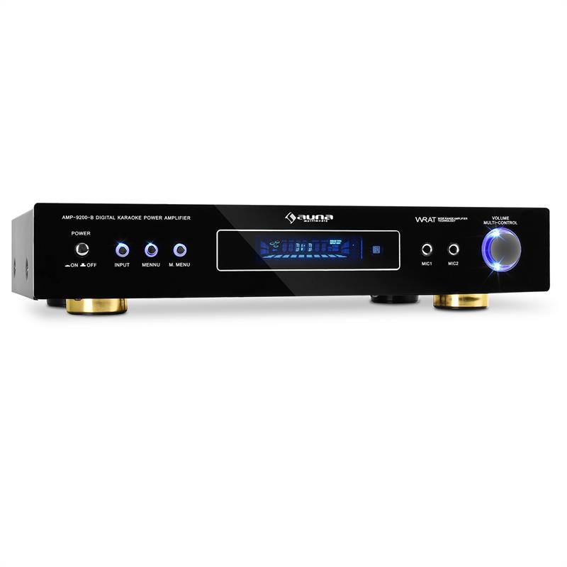 Auna AMP-9200 Home Hifi 5.1 Amplifier 600W - Black Design: Click to enlarge image!