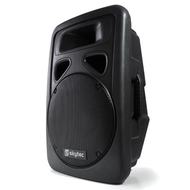 "Skytec 12"" Active DJ PA Powered Speaker 600W Max: Click to enlarge image!"