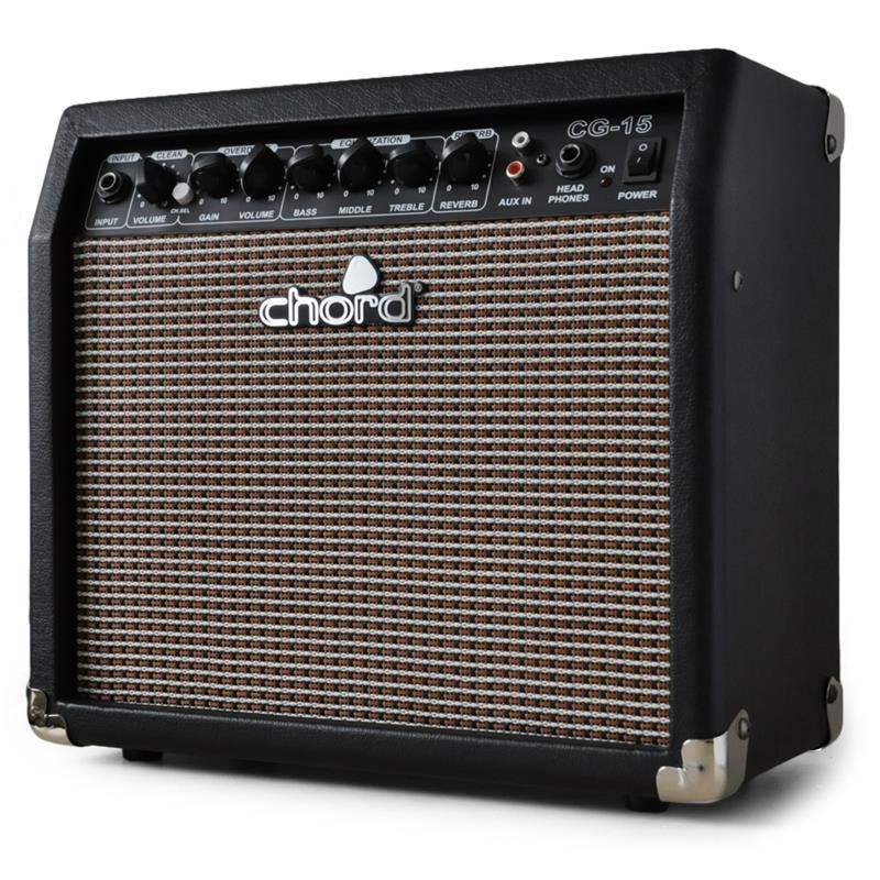 chord cg 15 8 guitar amplifier with overdrive reverb at the best price. Black Bedroom Furniture Sets. Home Design Ideas