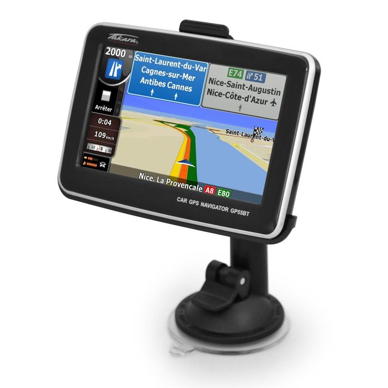 Takara GPS Navigation system GP-55 Bluetooth Media Player: Click to enlarge image!