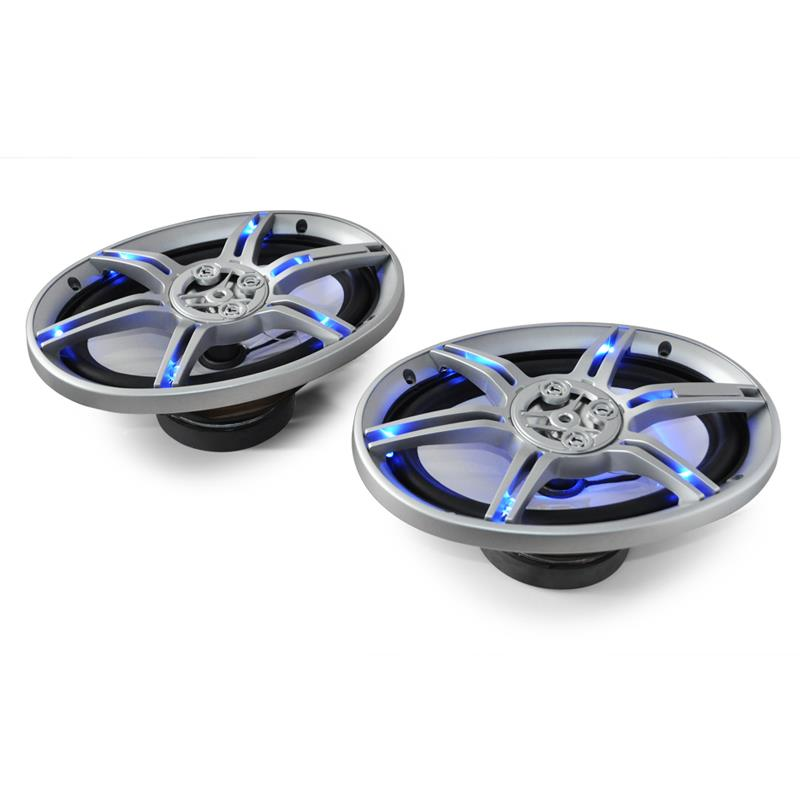"Auna CS-LED69 Blue LED 6x9"" Inch Car Audio Speakers 1000W Pair: Click to enlarge image!"