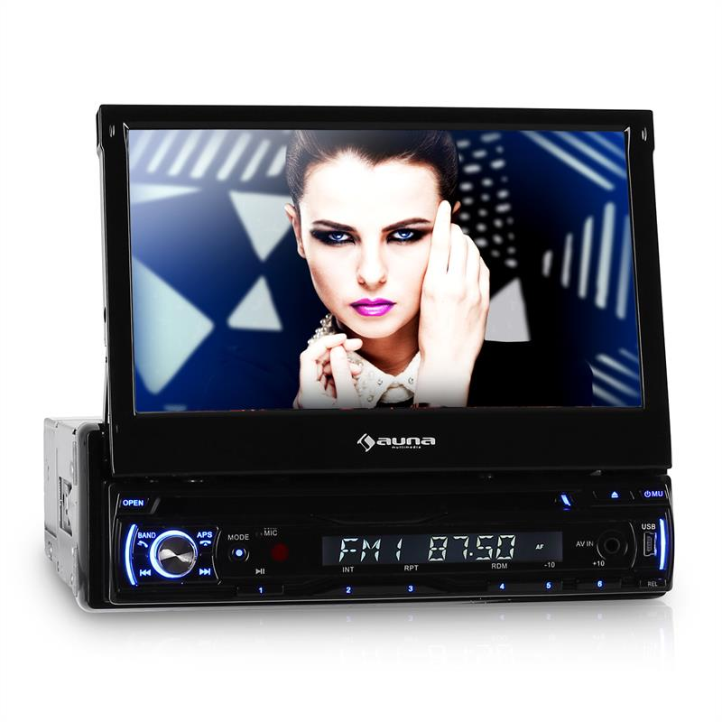 "Auna DTA90BT In-Car DVD Player Stereo Radio 7"" LCD Bluetooth: Click to enlarge image!"