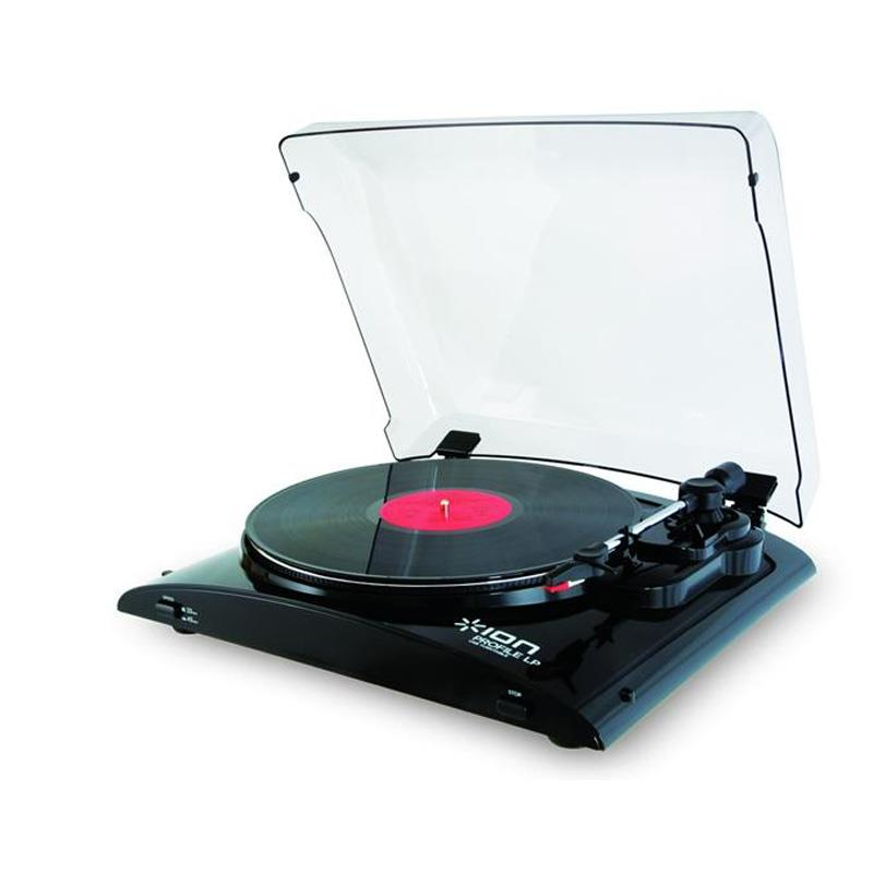 Ion Profile LP USB Vinyl-to-MP3 Turntable Black: Click to enlarge image!