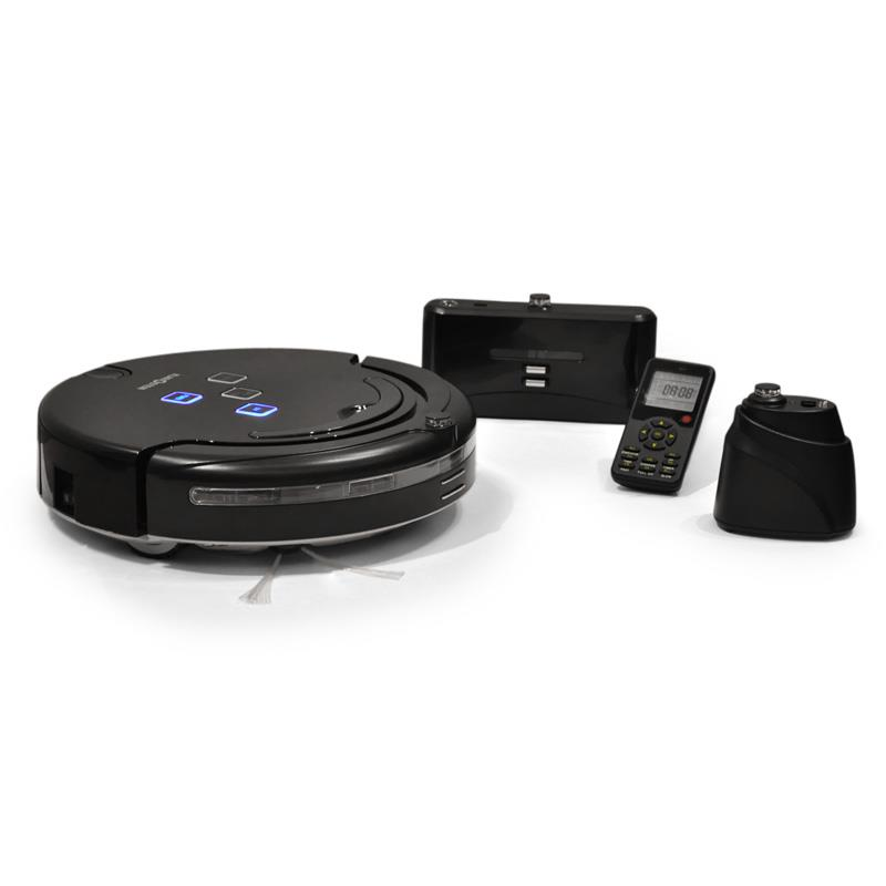 Klarstein 'CleanRazor' Robot Vacuum - 3rd Gen Floor Cleaner - Black: Click to enlarge image!