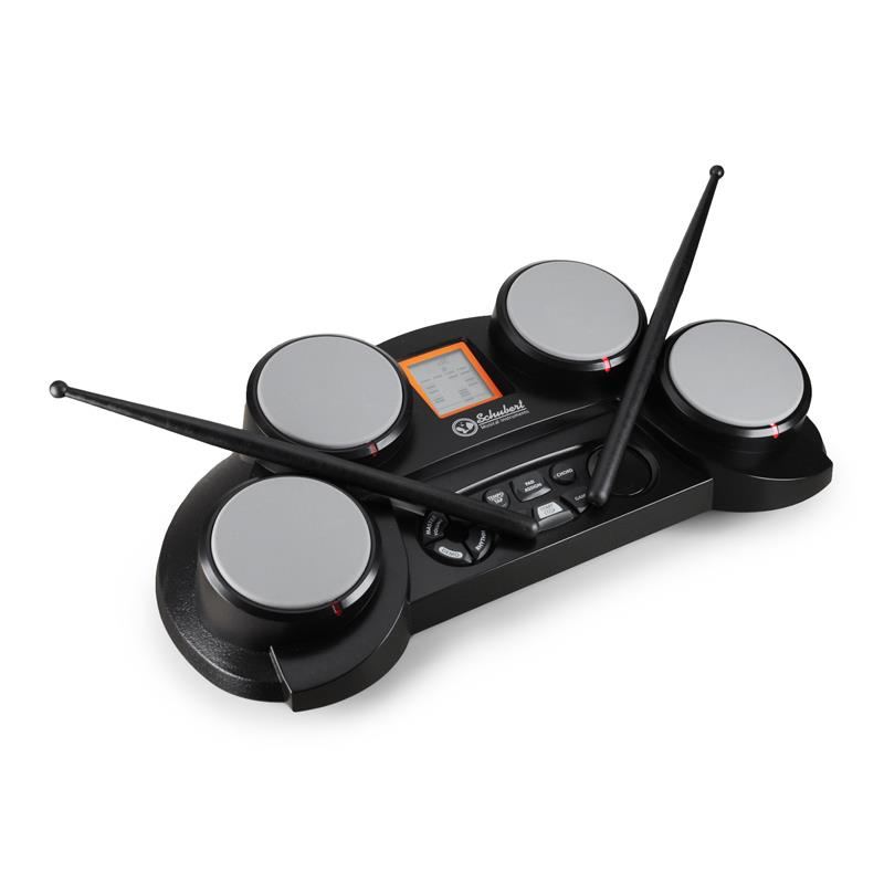 Schubert eMusic 4 Pad Electronic Drum Kit -Kids Beginner Set: Click to enlarge image!