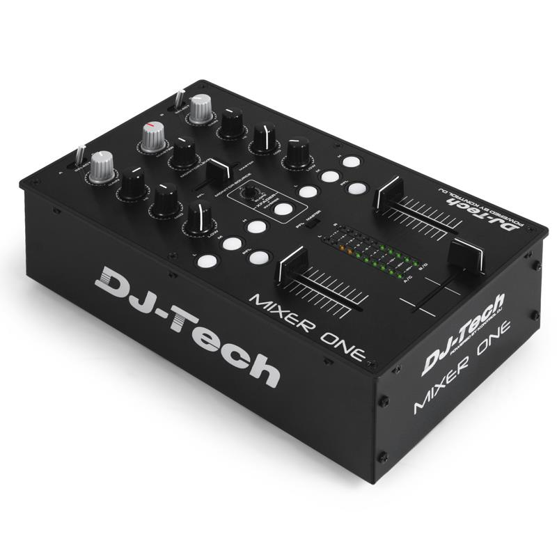 DJ-Tech Mixer One USB MIDI Controller 2 Channel Mixer: Click to enlarge image!