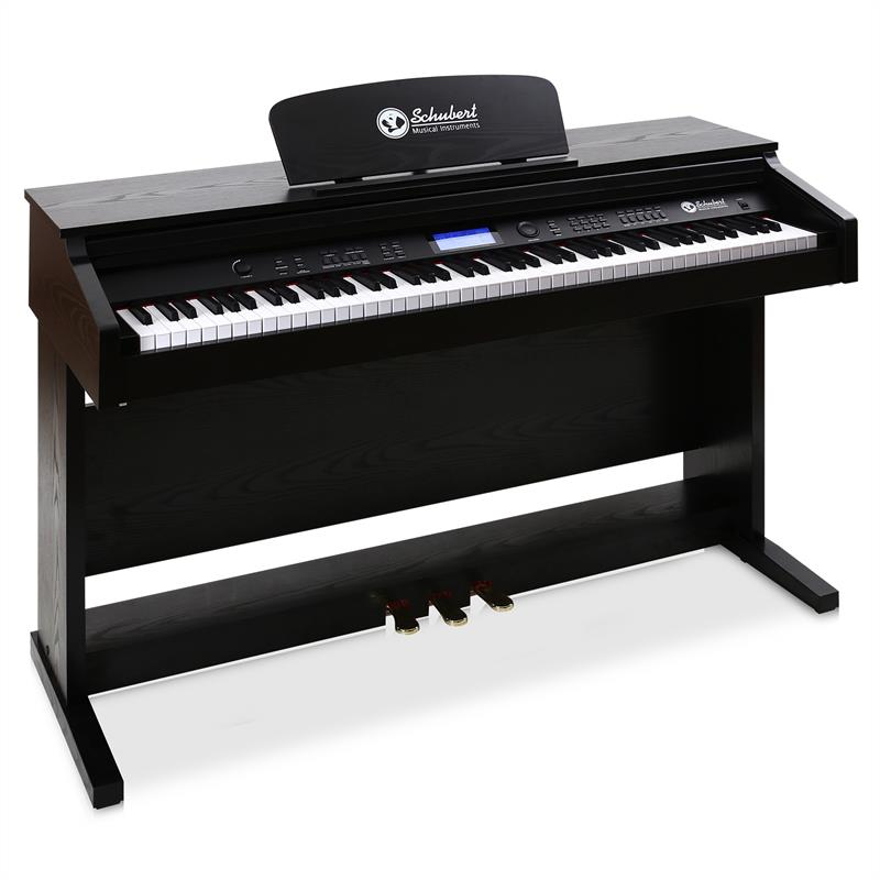 schubert 88 key electric midi keyboard piano with pedal at the best price. Black Bedroom Furniture Sets. Home Design Ideas