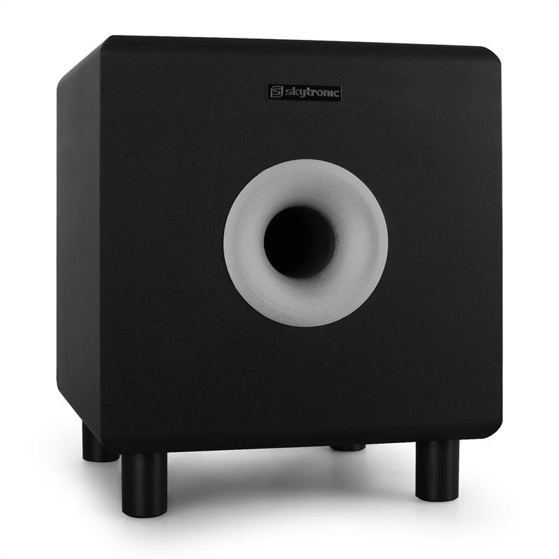 "Skytronic SHFS08B Home Hifi Active 8"" Subwoofer - Black: Click to enlarge image!"