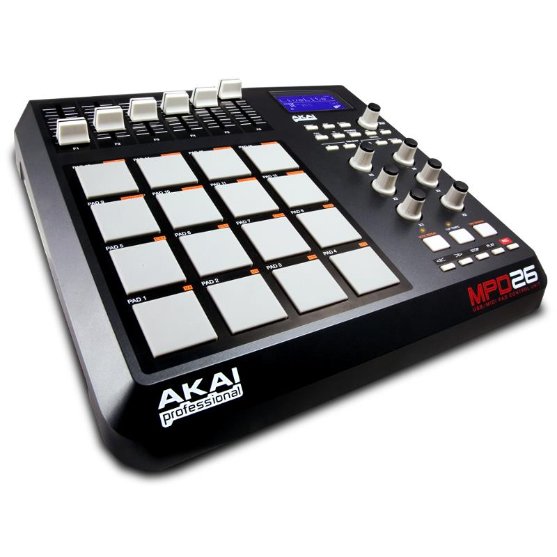 Akai Professional MPD26 MPC MIDI Pad Controller 16 Pads: Click to enlarge image!