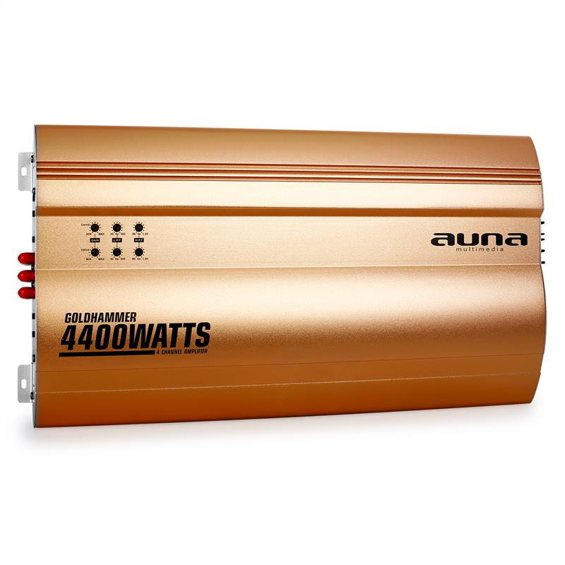 Auna Goldhammer 4-Channel Car Amplifier 400W: Click to enlarge image!