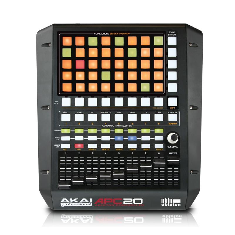 Akai APC20 Ableton Live DJ Controller USB MIDI with Lite APC Edition software: Click to enlarge image!