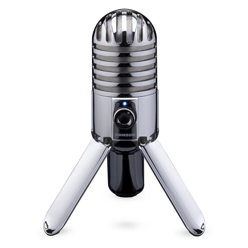 Samson Meteor USB Condenser Microphone Cardioid Tripod Chrome: Click to enlarge image!