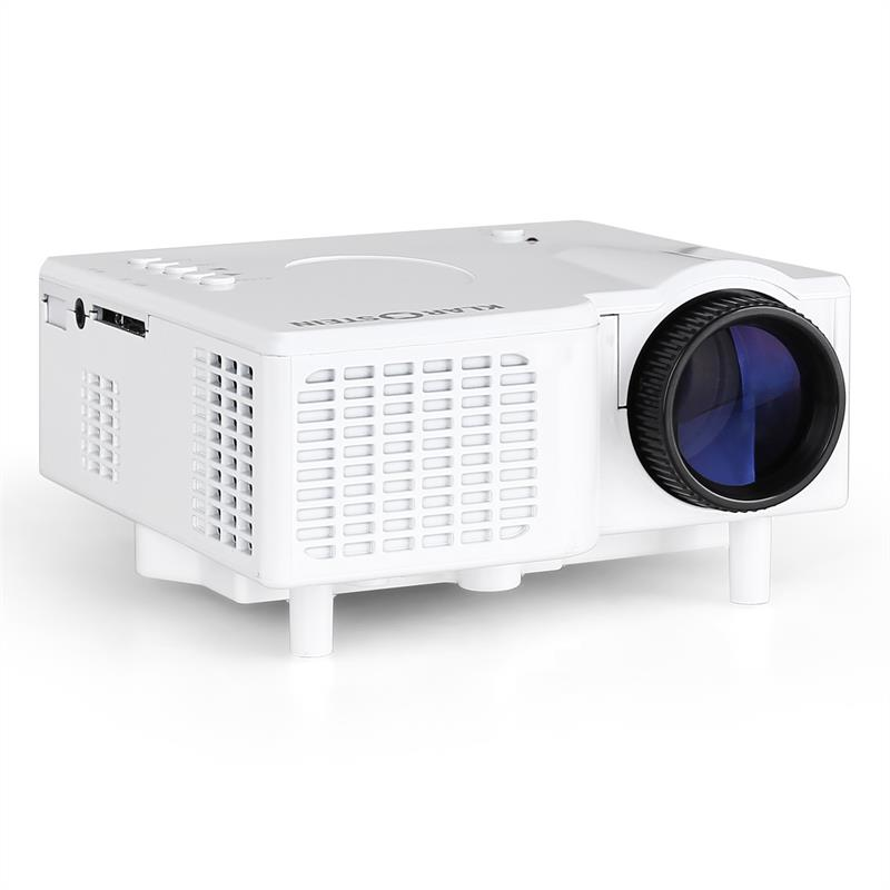 Klarstein led mini projector vga laptop beamer av white at for Best mini projector for laptop